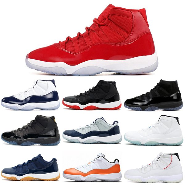 2019 11 11s basketball shoes concord snakeskin cap and gown gamma blue orange trance women mens trainer sports sneakers 5.5-13 - from $112.37