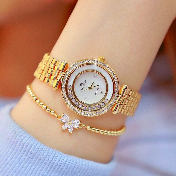 [with Bracelet]BS Watch Rolling Diamond Ladies Watch High-end Custom Walking Female Watch FA1552