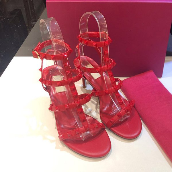 Rote Niete 6,5 cm Absatz