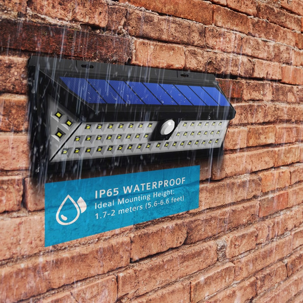 54 LED Solar Lights Outdoor Waterproof Security Solar Light for Front Door, Yard, Garage, Deck, Porch, Shed, Walkway, Fence