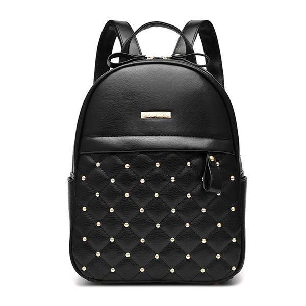 Backpack Bag Bandbags 2019 New Tide Female Shoulder Bag New Students Fashion Casual Shoulder Bagrivets Double Zipper Bag Z758