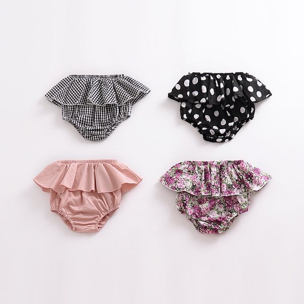 Must-have Girls Designer Clothes INS Floral Polka Dot Baby Girls Pantskirt Triangle Shorts Quality Cotton Striped PP Shorts Skirts Outfts