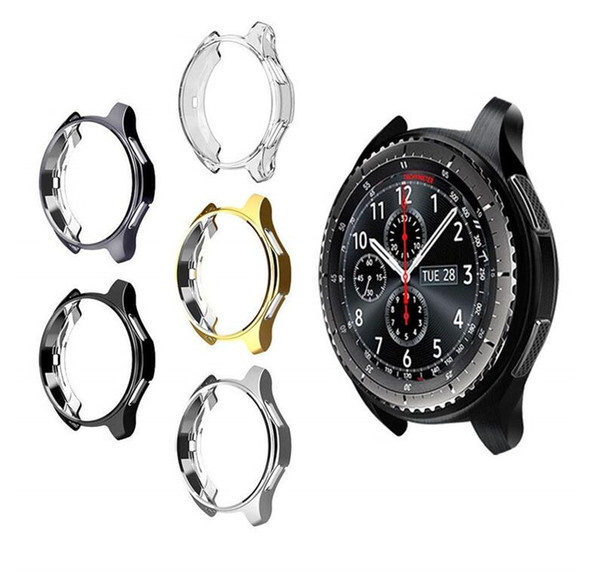 Case for samsung Gear S3 frontier galaxy watch 46MM soft TPU All-Around protective bumper shell replacement cover frame