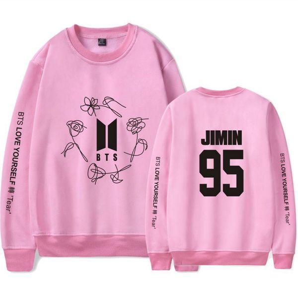 BTS K-Pop Bangtan Meninos Amor-se EXÉRCITO Imprimir Capless Moletons Mulheres Populares Camisola Hip Hop Fãs Idol Roupas