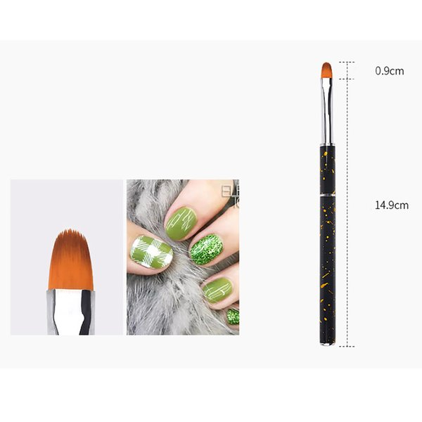 Nail Tools Nail Brushes Hot! 5pcs Nail Art Dotting Manicure Painting Drawing Polish Brush Pen Tool Nylon Drop shipping July24