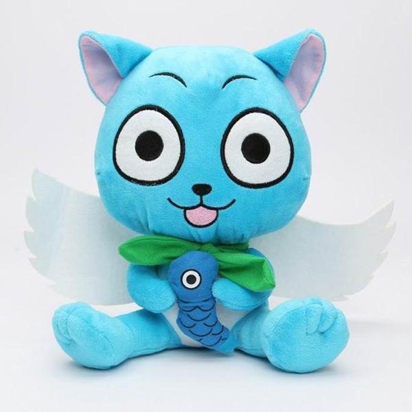 Cartoon Fairy Tail Plush Toys Cute Happy 30cm Dolls Japanese Anime Cartoon Stuffed Figure Toys