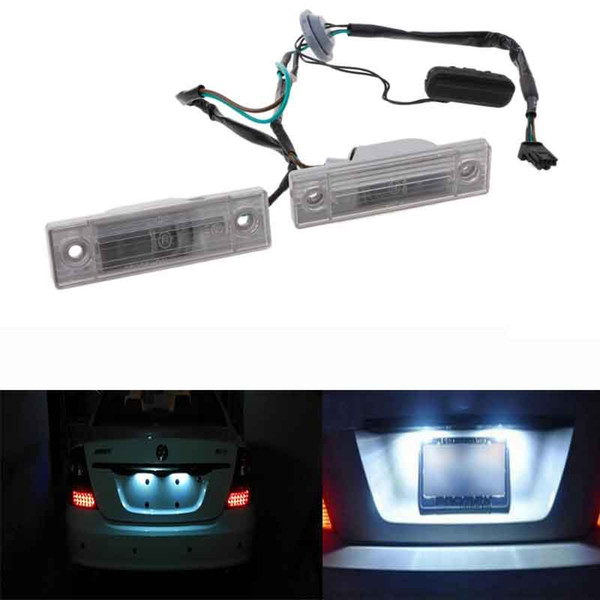 2PCS Rear Back License Plate Light With Trunk Switch Button For Cruze Chevrolet Exterior Auto Lamp Car Light