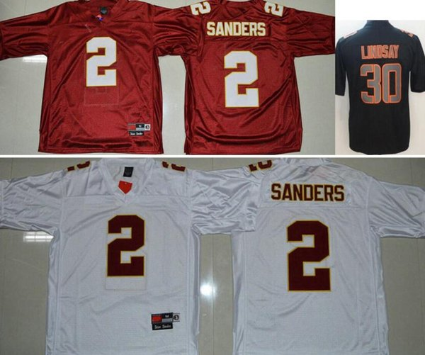 College Men Florida State Seminoles #2 Deion Sanders Denver 30 Phillip Lindsay Color Rush Legend Embroidery American Football Soccer Jerseys