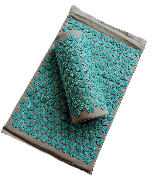 Beauty & Health Spike Acupuncture Massage Yoga Mat Pillow Massager (appro.67*42cm)Acupressure Cushion Relieve Back Body Pain Mat