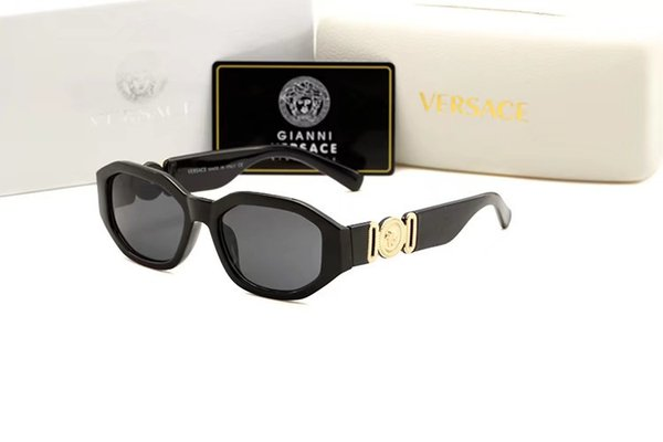 Designer di moda donna 3447 Occhiali da sole rotondi in vetro con montatura in metallo Occhiali da sole retrò marrone con montatura marrone occhiali da sole dorati