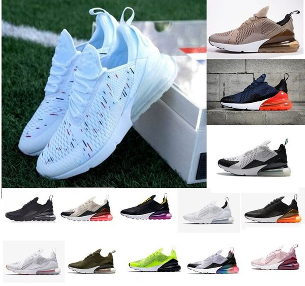 Acheter Discount Promotion Nike Air Max 270 Highest Quality Men Shoes Breathable Running Shoes Men And Women Sneakers With Logo Sports Casual Shoes De