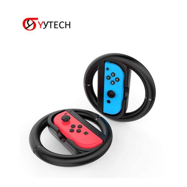 SYYTECH Steering Wheel Set Left & Right Joy-Con Grip Game Steering Wheel for Nintend Switch Joy-Con Joystick Gamepad