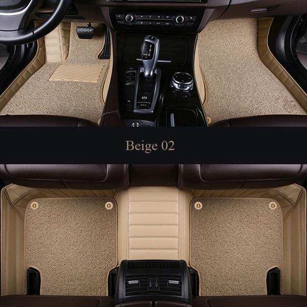 Custom fit esteiras do assoalho do carro para o Volvo C30 S40 S60L S80L V40 V60 XC60 XC90 3D estilo do carro-heavy duty Duas camadas tapete forro do assoalho