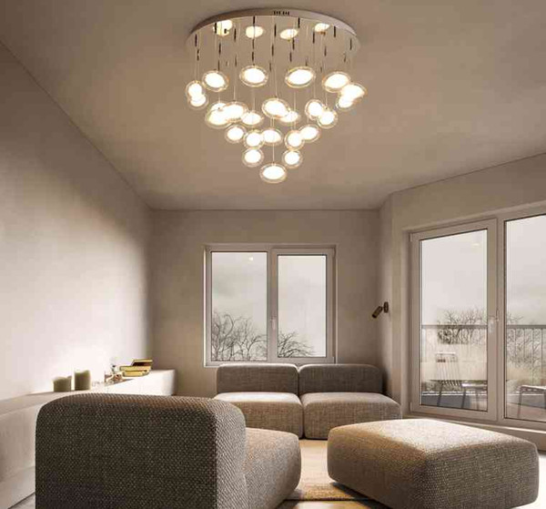 Modern Simplicity LED Chandelier Ceiling Nordic Glass Ball Hanging Lights  Bedroom Lighting Fixtures Living Room Pendant Lamps LLFA Wood Pendant Lamp  ...