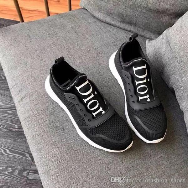 Diseñador de lujo, hombres, mujeres, zapatillas de deporte, señoras, niñas, brida de cuero, abrigo, zapatos casuales, Classic Balck Pure White, hombres, zapatos de mujer