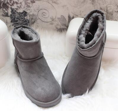 Classique hiver garder au chaud court Mini 58541 botte de neige Marque Femmes populaires Femmes Mode Bottes en cuir véritable Australie Bottes de neige ed58