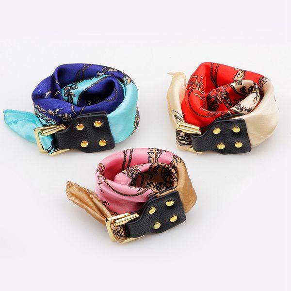 1pcs Fashion silk scarves bracelet jewelry multifunctional women Girl bracelet scarf bag decoration Accessories Ladies