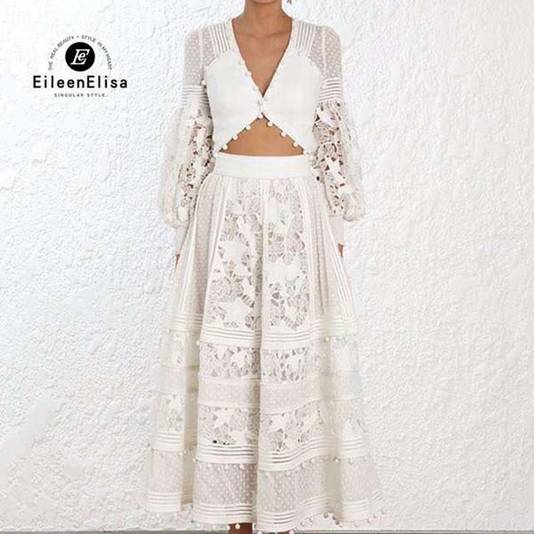 Conjunto de falda de primavera Mujer 2019 Ropa de moda Señoras Conjunto de dos piezas Falda larga Crop Tops Mujer Casual