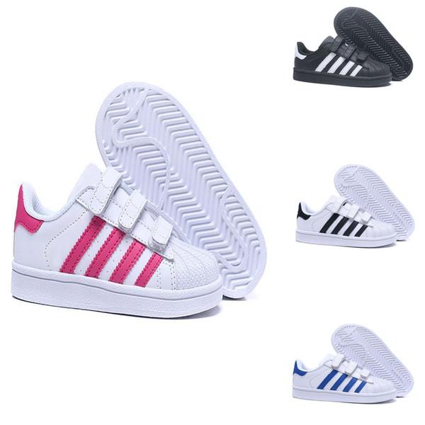 wholesale sales where to buy quality Großhandel Adidas Superstar Kinder Skateboarding Schuhe Baby Kinder Schuhe  Sneakers Originals Super Star Mädchen Jungen Sport Casual Schuhe 24 35 Von  ...
