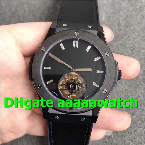 TF Swiss Watch 505.CS.1270.VR REAL Tourbillon Seagull Hand-winding Movement Sapphire Crystal Ceramic Case 45MM Top Designer Watches