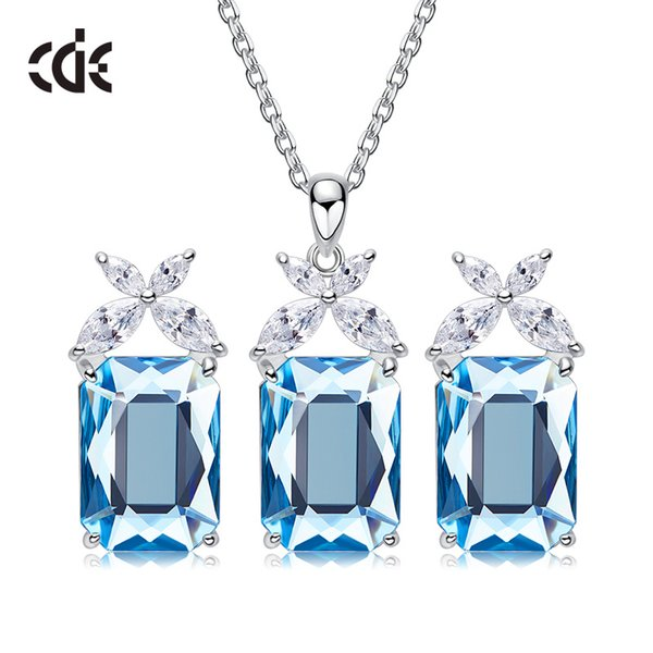 Wedding Party silver S925 beaded pearl gift woman lady diamond jewelry set for bride acting initiation graduation CDE-838