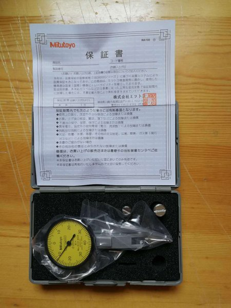 best selling New Japanese precision tool Mitutoyo dial test indicator 0-0.8mm 513-404 0.01mm lever dial indicator * 1