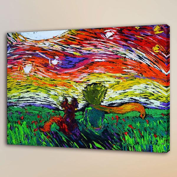 Van Gogh Little Princ,HD Canvas Print Home Decor Art Painting/Unframed/Framed