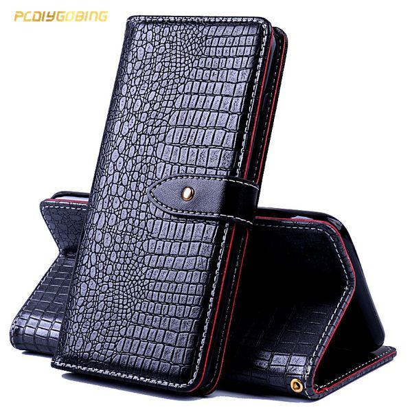 0c70a513b5 Wallet Crocodile Leather Case For Alcatel A3 5046 U5 3G 4047 U5 HD 5047D  Shine lite