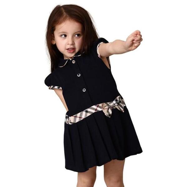 f0d4baeb8ab0e Sıcak giyim etek 2019 Yaz Kızlar Kısa Kollu Elbise Prenses Elbise Çocuklar  Pamuk Elbise Ücretsiz Kargo