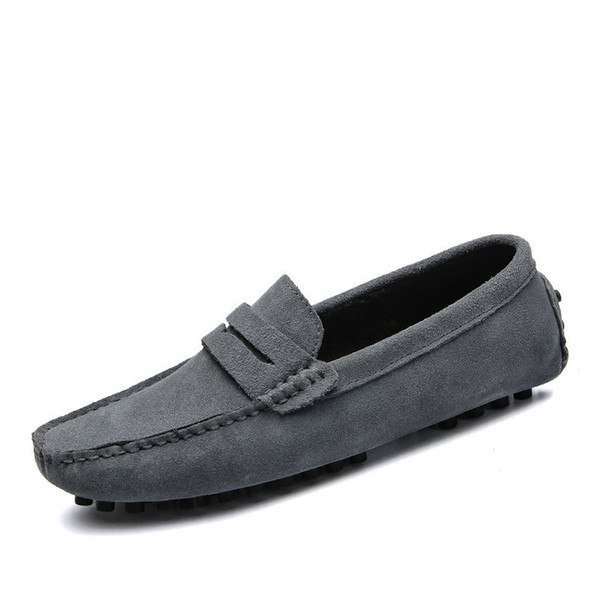 Fur Lining Men Winter Warm Loafers Slip-on Casual Shoes Solid Color Man Leisure Driving Shoes Big Size 39-48
