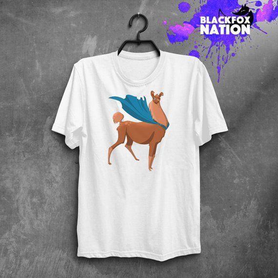 Super Llama Shirt Cute Alpaca Short Sleeve T-Shirt Superhero Printed Gift TShirt Classic Quality High t-shirt