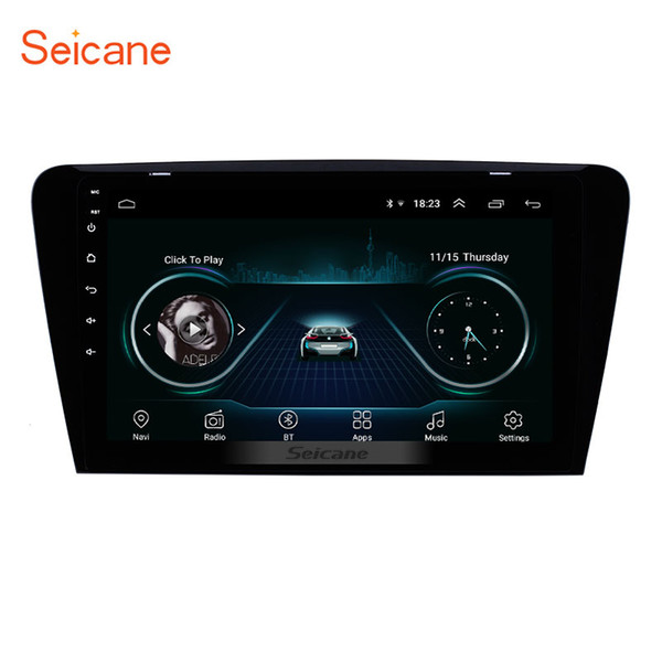 10.1 inch HD 1024*600 Touch Screen Android 8.1 Car Stereo for 2015 2016 2017 SKODA Octavia (UV) with WIFI USB GPS Navi Support DVR OBD2