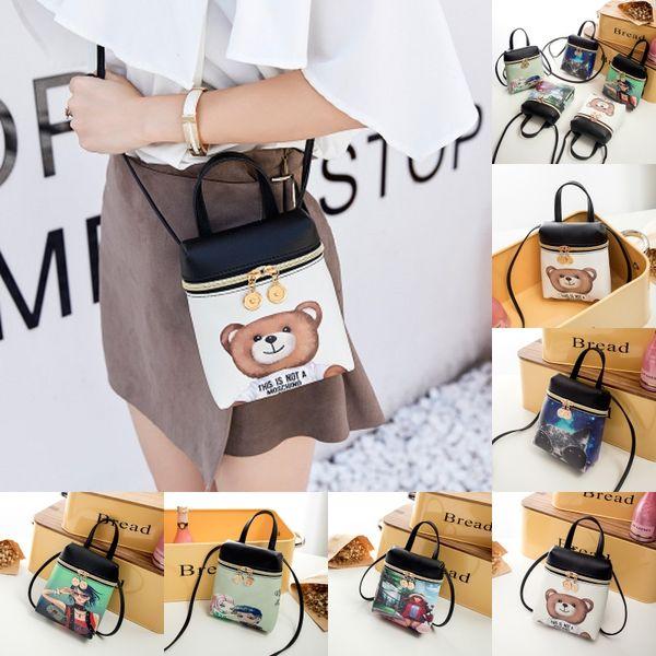 Bolso cruzado multifuncional para mujer, bolso de hombro, bolso de cuero PU, precioso bolso de mensajero con cremallera, bolsos cruzados de bolsillo para regalo de Gilrs M27Y