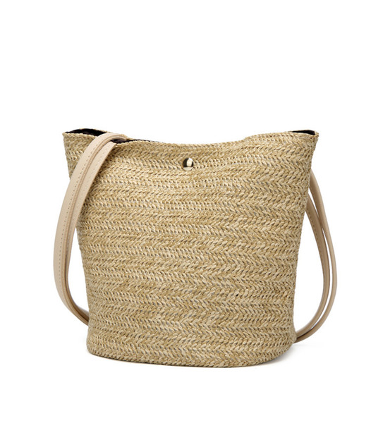 0763a2d29d1b Vintage Designer Shoulder Bags Casual Straw Women Handbags Large Capacity  Tote Bags For Shopping Ladies Handbags Purses Promotion Leather Satchel ...
