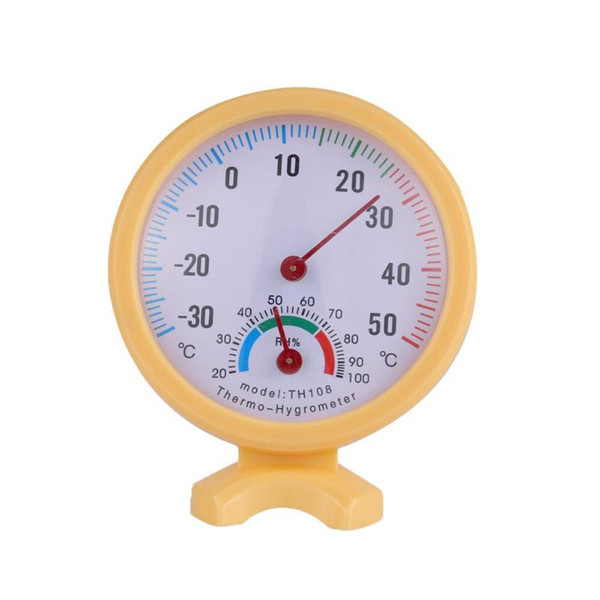 Mini Round Clock Indoor Outdoor Wet Hygrometer Humidity Thermometer Temp -30 to 50 'C Temperature Meter Gauge