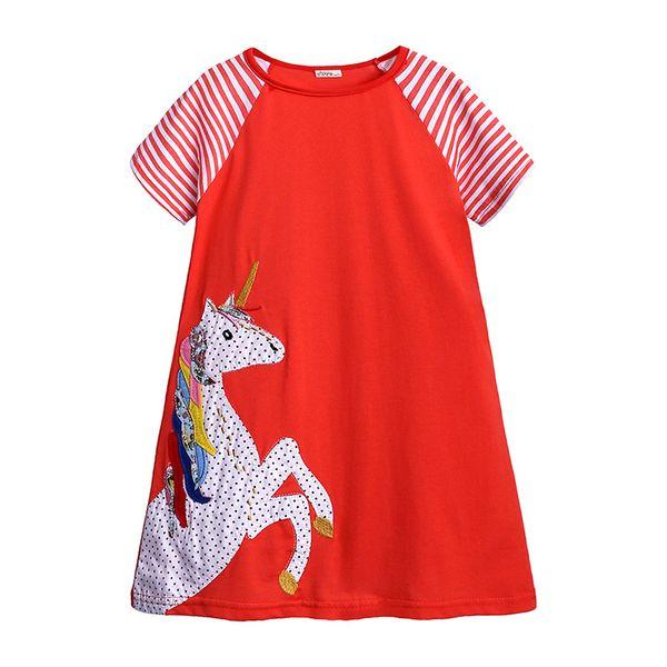 Crianças vestido de bebê menina vestido 2019 venda quente vestidos de algodão para crianças roupas de bebê menina roupas t-shirt