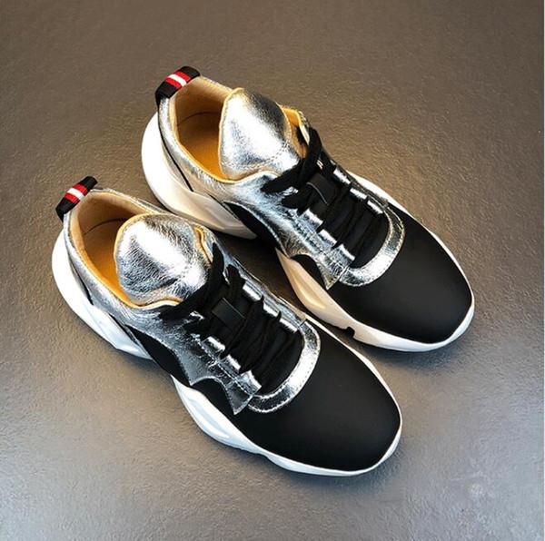 white silver women sneakers 6.5cm platform creepers ladies walking shoes casual tenis feminino black zapatillas