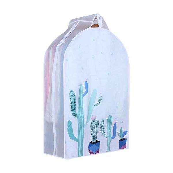 Suit Garment Cover Bag Protector Suit Travel Bag Garment Closet Organize Clothes Storage Clothes Dust Cover Size S (Cactus)