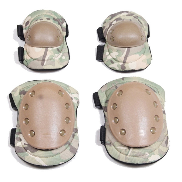 4 Pcs Tactical paintball protection knee pads and elbow pads set Paintball Combat Knee Protector Hunting Skate Scooter Kneepads