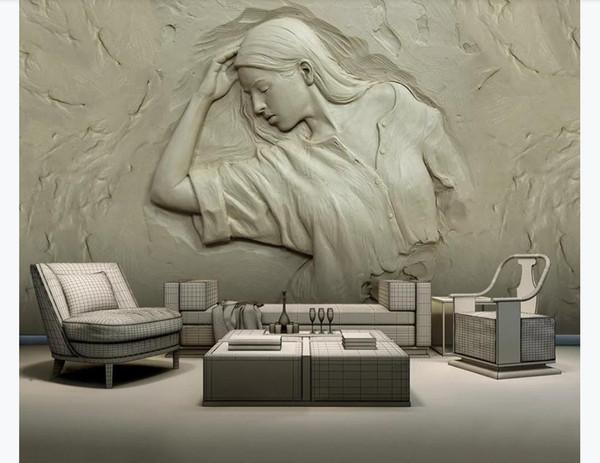 Carta da parati 3D foto personalizzata Carta da parati murale in seta 3d tridimensionale in rilievo bellezza camera da letto soggiorno TV sfondo decorazione della parete di casa