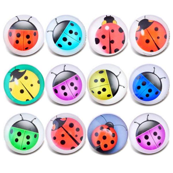 Nuovo vetro Snap gioielli misti bella insetto modello 18 millimetri di vetro bottoni a pressione per gioielli fai da te braccialetto all'ingrosso gioielli ZB303