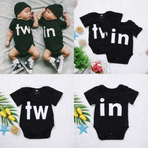 Cotton Newborn Baby Boys Girls Cartoon Romper Jumpsuit Bodysuit Outfit Sunsuit