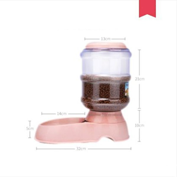 2019 pets drinking water fountain dispenser for dogs cats 3.5l puppy feeder with bowl bebedero perro pets products 6d0216