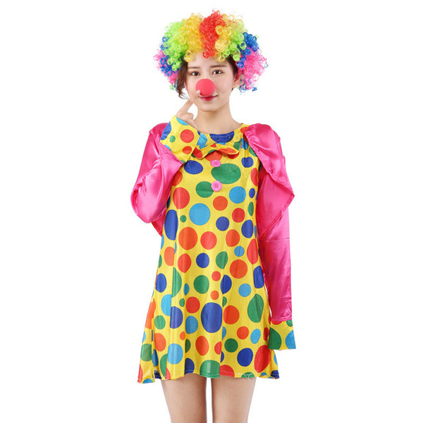 170cm-180cm Halloween drôle Costumes de Clown fille noël Adulte Femme Homme Joker Cosplay Parti Dress Up belle Suits du Nouvel An