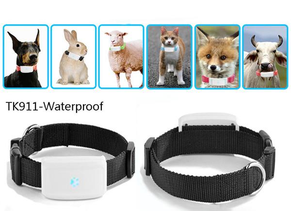 TKSTAR TK911 TK909 Localizador en tiempo real a prueba de agua Mascotas GSM Rastreador GPS para mascotas Perro gato Conejo GPS Seguimiento de cuello Aplicación gratuita Rastreo Dispositivo de alarma