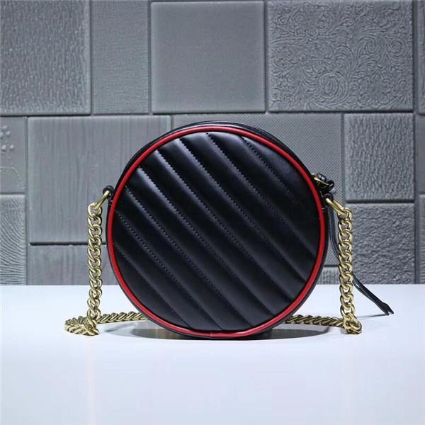 2019. Черная круглая сумка в стиле ретро с игривым и милым круглым дизайном. Яркая вишнево-красная оправа для создания удивительных визуальных эффектов.