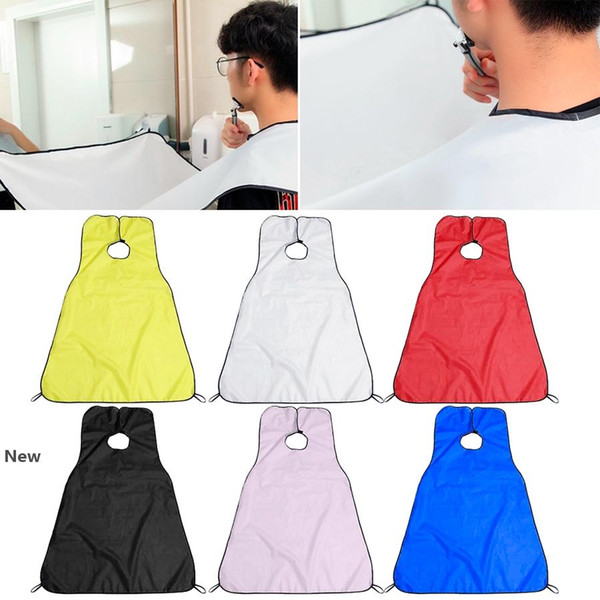 best selling Men Beard Shave Apron 120*80cm Bathroom Hair Clippings Catcher Grooming Cape Aprons Novelty Items 60pcs OOA8081