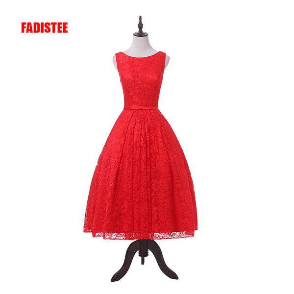 Elegant prom party Dresses Lace Robe De Mariage tea-length style dresses Vestido de Noiva Casamento Under 50$