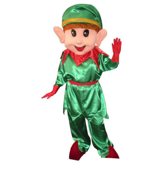 Christmas Elf Mascot Costume Lovely Christmas clown Cospaly Cartoon Character adult Halloween party costume Carnival Costume