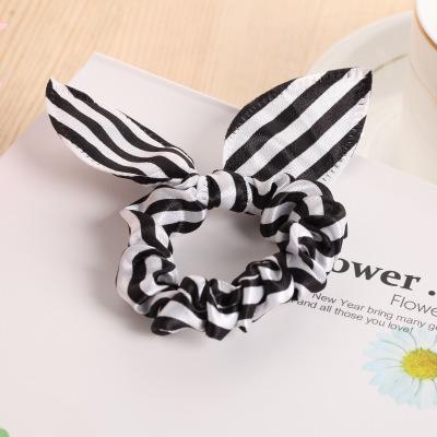 Rabbit Ears Hair Band Children Kids Hair Accessories Scrunchies Elastic Hair Band For Women Girl Rubber Band Rope